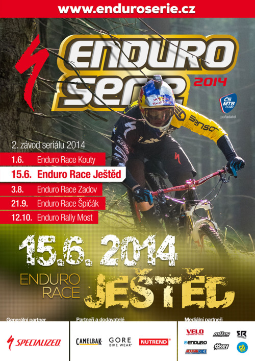 Enduro Serie - plakát Ještěd 2014