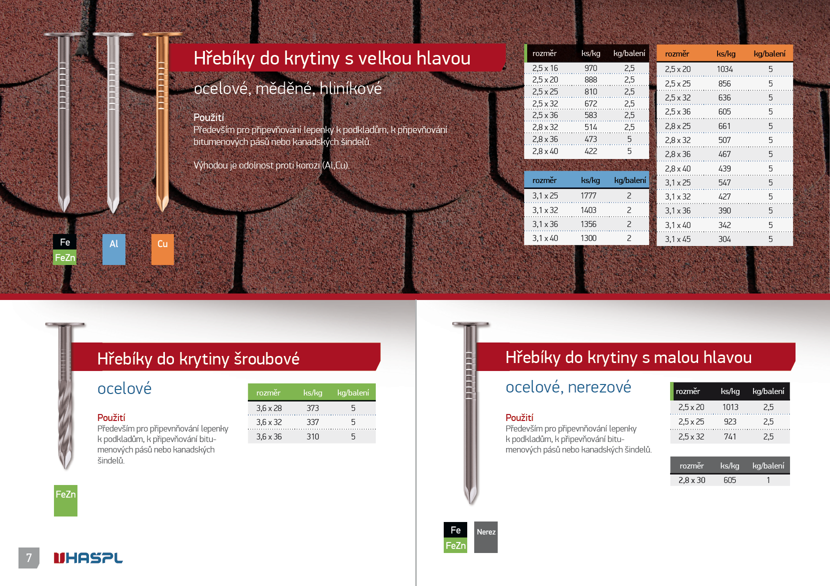 Katalog hřebíků HAŠPL 2012