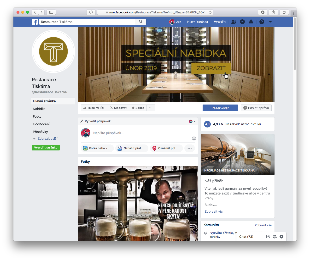 Facebook Cover restaurace